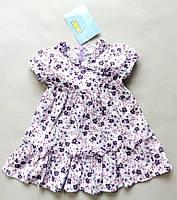Детское летнее платье хлопок сток на девочку италия Iana 6 9 мес рост 68 74