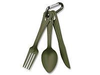 Столовый набор вилка, ложка, нож. Mil-Tec, Германия 14628101