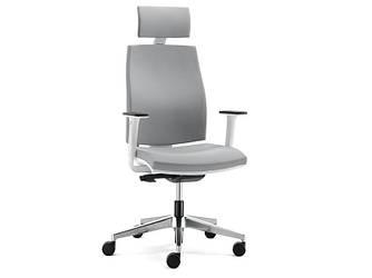 Офисное кресло с подголовником JOB (white)