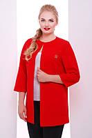 Пиджак кардиган женский больших размеров в разных цветах