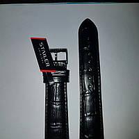 Кожаный ремешокStailer- ремешок для наручных часов,черный матовый ремень для часов с выделкой под аллигатора