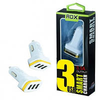 Автомобильная зарядка на 3 USB (3100mA) 12/24V Redax RDX-140