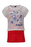 Майка и топ Glo-story для девочек; 152, 164 размер, фото 1