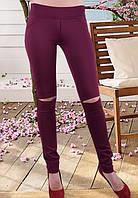 Бордовые лосины  р-ры 42-50, фото 1