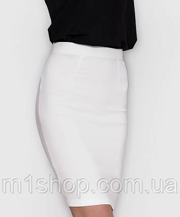 Джинсовая эластичная юбка карандаш (1232 sk), фото 2