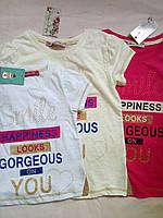 Яркие качественные Детские футболки на девочку Турция Размеры 104- 152