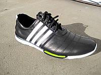 Кроссовки черные кожаные мужские 40 -45 р-р