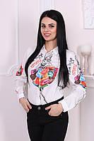 Рубашка женская из креп-шифона Турция