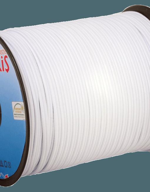 Резинки для шитья 4 mm  (Double Tube Elastic) / 100 m / White