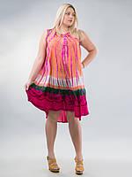 Сарафан-разлетайка карамель, розовый, на 48-64 размеры