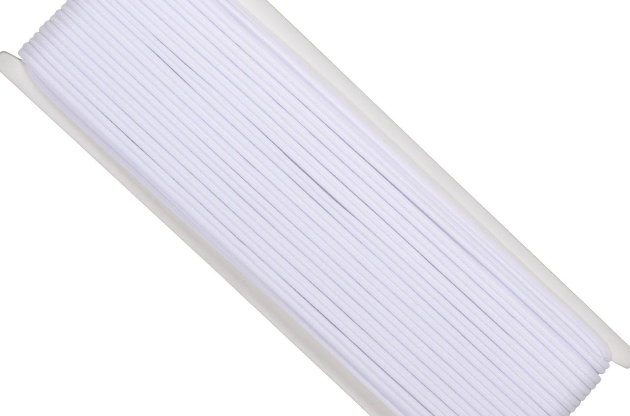 4 mm Elastic Baby (Double Tube Elastic) / 20 m / White