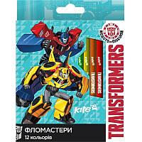 Фломастеры 12 цветов KITE 2017 Transformers 047 (TF17-047)
