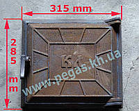 Дверка печная чугунная (285х315мм) печи, барбекю, грубу, мангал, фото 1