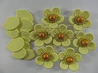 """Набор """"цветок с жемчужиной"""" (разные цвета), фото 1"""