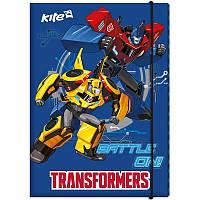 Папка картонная для труда на резинке KITE 2017 Transformers 213 (TF17-213)