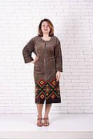 Велюровый халат больших размеров купон узор