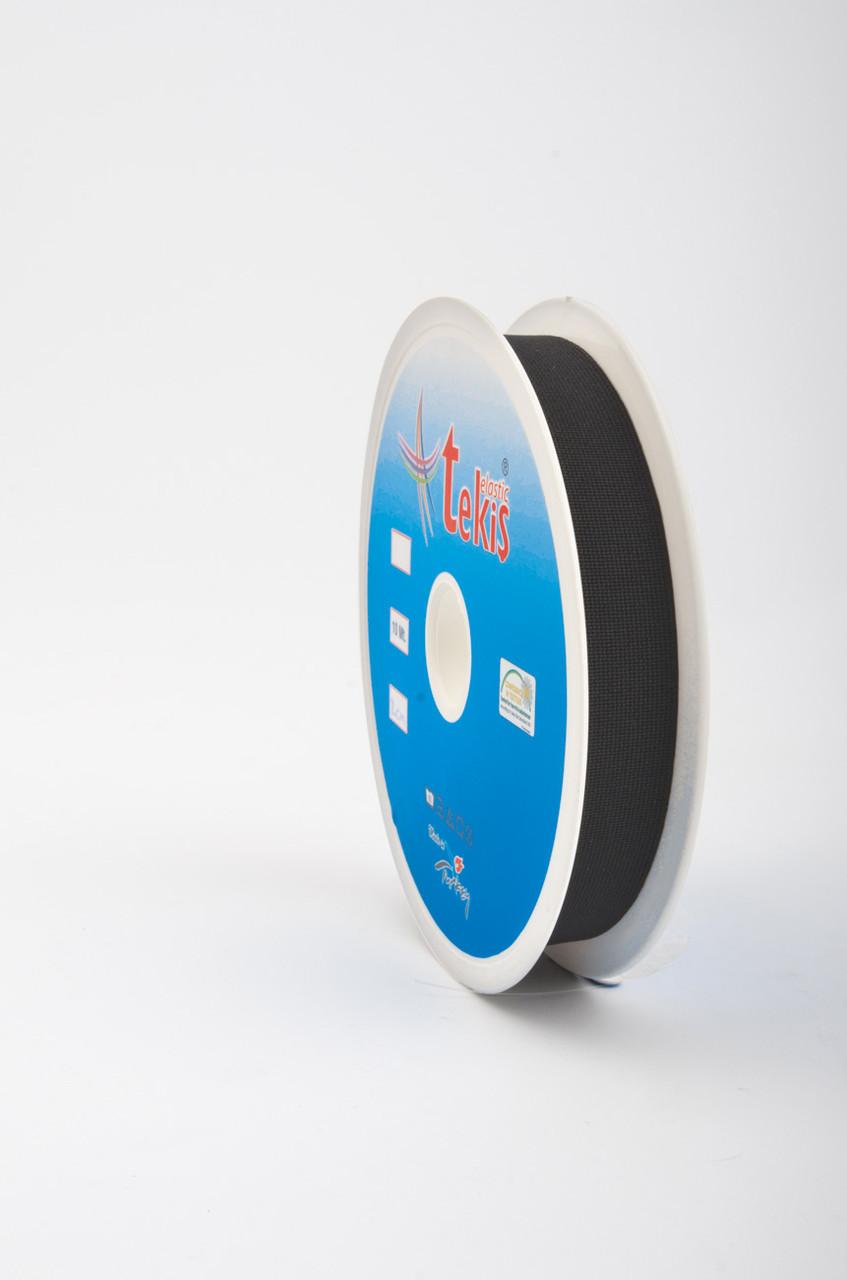 20 mm Elastic Tape / 10 m / Black
