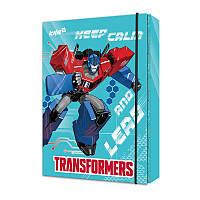 Папка картонная для тетрадей на резинке В5 KITE 2017 Transformers 210 (TF17-210)