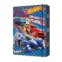 Папка картонная для тетрадей на резинке В5 KITE 2017 Hot Wheels 210