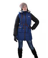 Удлиненная куртка парка Анна для девочки подростка (рост 146-164)