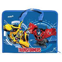 TF17-202 Папка-портфель пластик на молнии А4 KITE 2017 Transformers 202