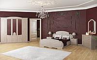 Спальный гарнитур комплект шкаф 4Д, прикроватные тумбы, комод, зеркало, кровать2С Тереза 4Д