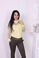 """Нарядная женская рубашка Турция """"Сетка"""", фото 1"""