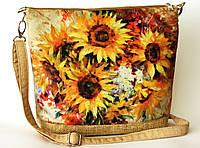 Женская сумочка Подсолнухи акварель, фото 1