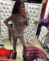 Спортивный костюм с модными прорезами на штанах, расцветки