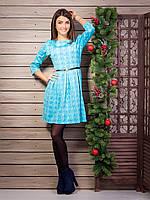 Изысканое женское платье с модным принтом больших размеров