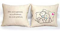 Набор из двух подушек со своим изображением