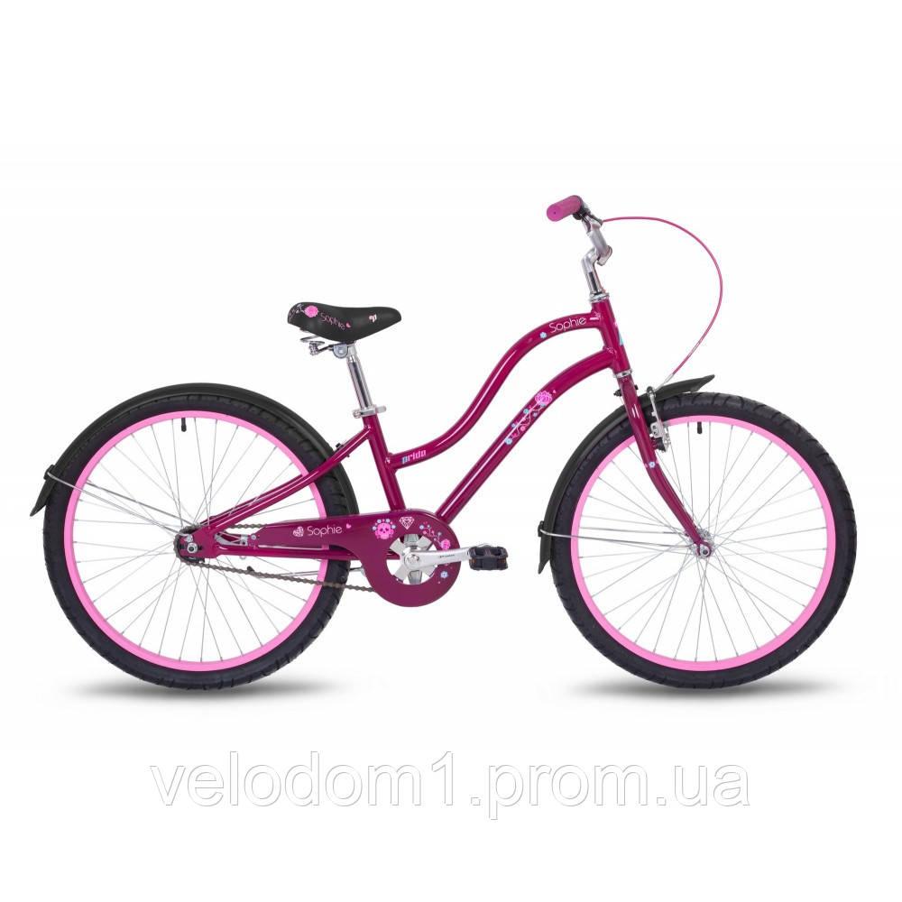 "Велосипед Pride 24"" Sophie 1-ск фиолет (2018)"