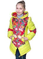 Демисезонная куртка для девочек удлиненная