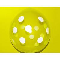 """Шар-Упаковщик НВ18"""" 45 см Горох кристалл прозрачный для упаковки подарков и цветов"""