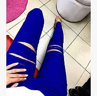 Красивые брюки с прорезами в расцветках МОДН-003.052(2-17)