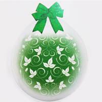 """Шар-Упаковщик НВ18"""" 45 см Листочки кристалл прозрачный для упаковки подарков и цветов"""