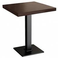 Стол на металлической опоре КВАДРО-МДФ для ресторана и кафе 60х60 см, 38 мм