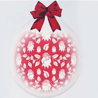 """Шар-Упаковщик 18"""" 45 см Розочки кристалл прозрачный для упаковки подарков и цветов"""