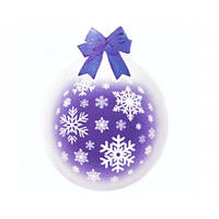 """Шар-Упаковщик 18"""" 45 см Снежинки кристалл прозрачный для упаковки подарков и цветов"""