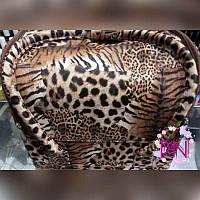 Чемодан для мастера из кож.заменителя на змейке светлый леопард YRE