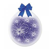 """Шар-Упаковщик 18"""" 45 см Фейерверк кристалл прозрачный для упаковки подарков и цветов"""