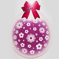 """Шар-Упаковщик 18"""" 45 см Цветочки кристалл прозрачный для упаковки подарков и цветов"""