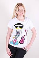 Модная футболка двойка с рисунком