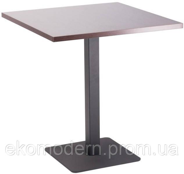 Стол на металлической опоре КВАДРО-ДСП для ресторана и кафе