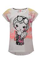 Легкая футболка Glo-story для девочек; 98, 110 размер, фото 1