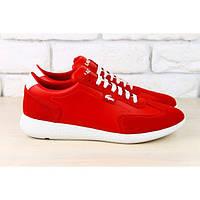 Женские кроссовки, красные, с комбинированной кожи