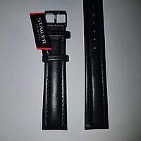Кожаный ремень Stailer - черный, гладкий ремень с прошивкой и подкладкой из нубука