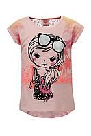 Легкая футболка Glo-story для девочек; 116, 128 размер