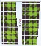 Слайдеры водные наклейки С145 Maxi зеленая клетка