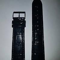 Кожаный ремень Stailer-черный лаковый ремень с выделкой под крокодил и нубуковой  подкладкой